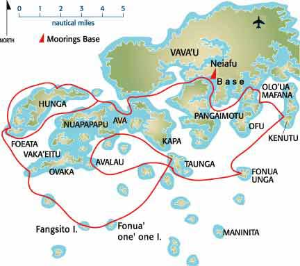 Sailing Maps Charts And Anchorages In Tonga VavaU Islands From - Tonga map
